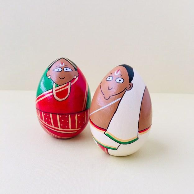 Iyengar Couple Golu Peg Doll