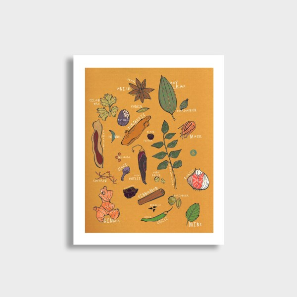 Masala Mix Art Print