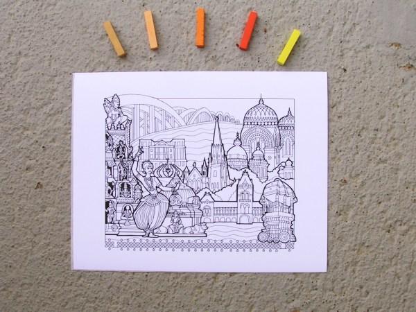 DIY Coloring Chennai Art Print