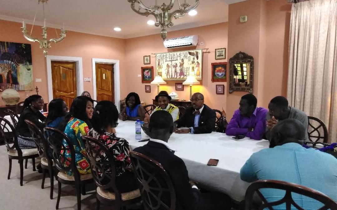 YALI Alumni Interact with Former US Ambassador to AU