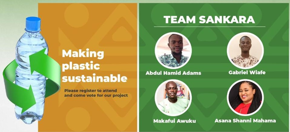 Sustainable Plastic Use for a Cleaner Sub-Region: Team Sankara Snatch Dow – YALI Accra RLC Sustainability Design Challenge