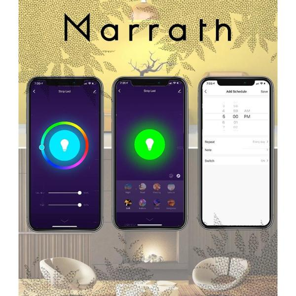 Marrath Smart WiFi 16 Million Color RGBW LED 5M strip light - www.yallagoom.com.qa