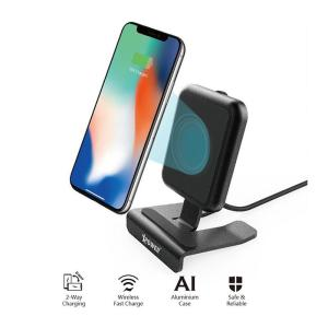 Xpower WLS2 (1 Coils) Wireless 9V Fast Charger Stand-Yallagoom.com.qa