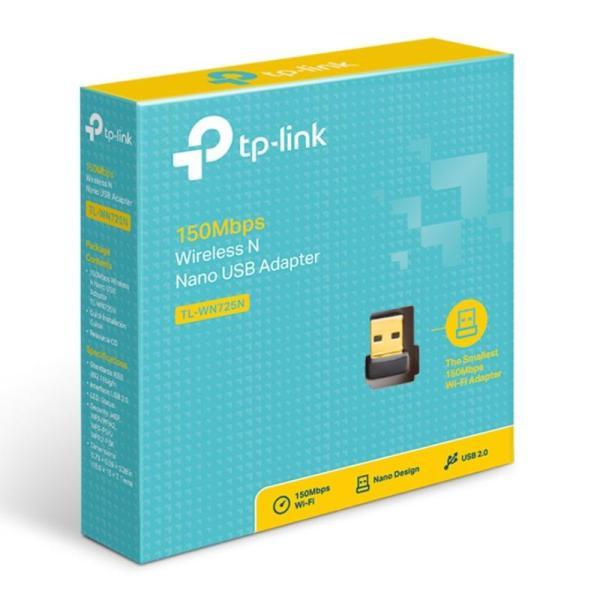 TP-Link TL-WN725N 150Mbps Wireless N Nano USB Adapter-yallagoom.com.qa
