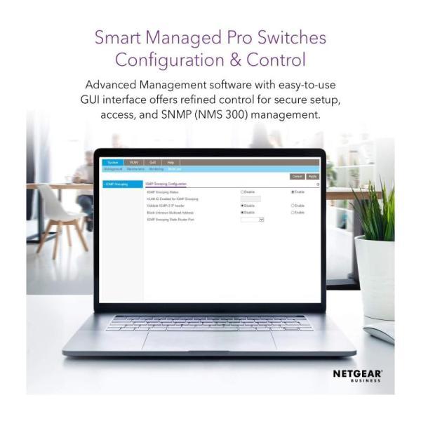 Netgear Networking Switch 8-Port Gb Ethernet Smart Managed Pro Poe Switch-yallagoom.com.qa