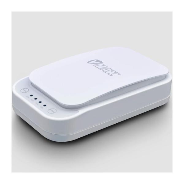 VMAX UV Sanitiser with Phone Wireless charger - White-Yallagoom.com.qa