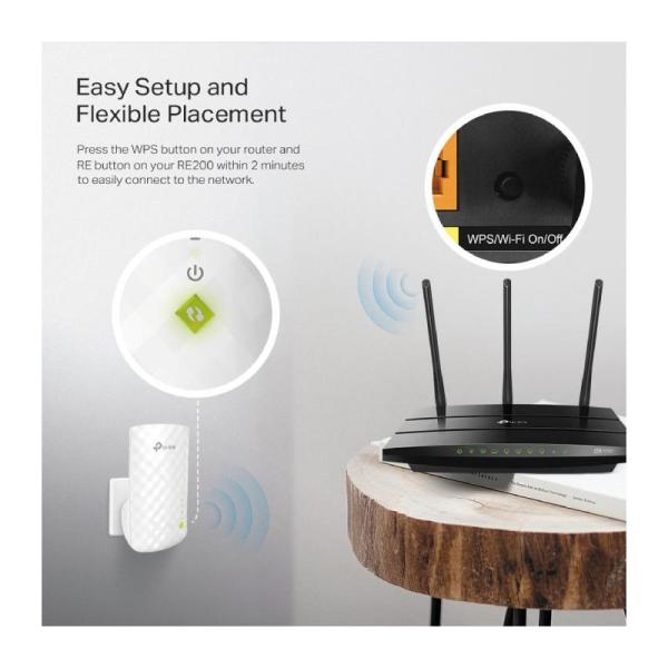 TP-Link AC750 Wifi Range Extender   Up to 750Mbps   Dual Band WiFi Extender-yallagoom.com.qa