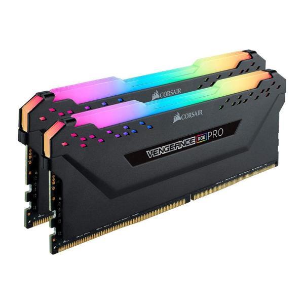 CORSAIR VENGEANCE RGB PRO 16GB 8×2  3200 BLACK-yallagoom.com.qa