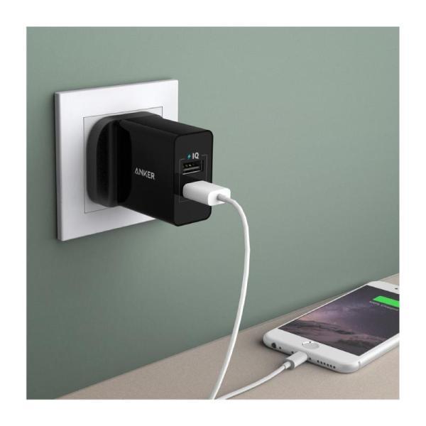 Anker 24W 2-Port USB With Micro USB Cable-Yallagoom.com.qa