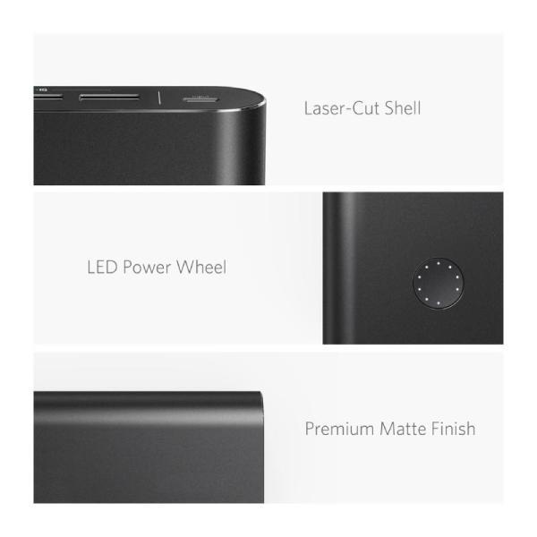 ANKER POWER CORE + 26800MAH WITH QC 3.0 - BLACK-Yallagoom.com.qa