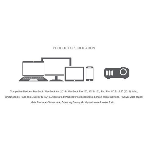 Grenoplus USB C to VGA Adapter  Silver-Yallagoom.com.qa