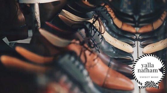 إختيار الحذاء لملابس الرجال .