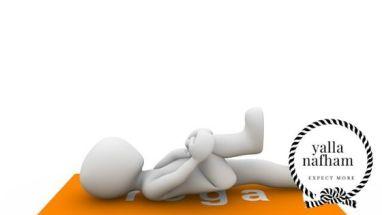 معالجة آلام الظهر عن طريق تمديد الركبة إلي الصدر مع الثبات