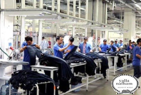 مشروع تصنيع ملابس