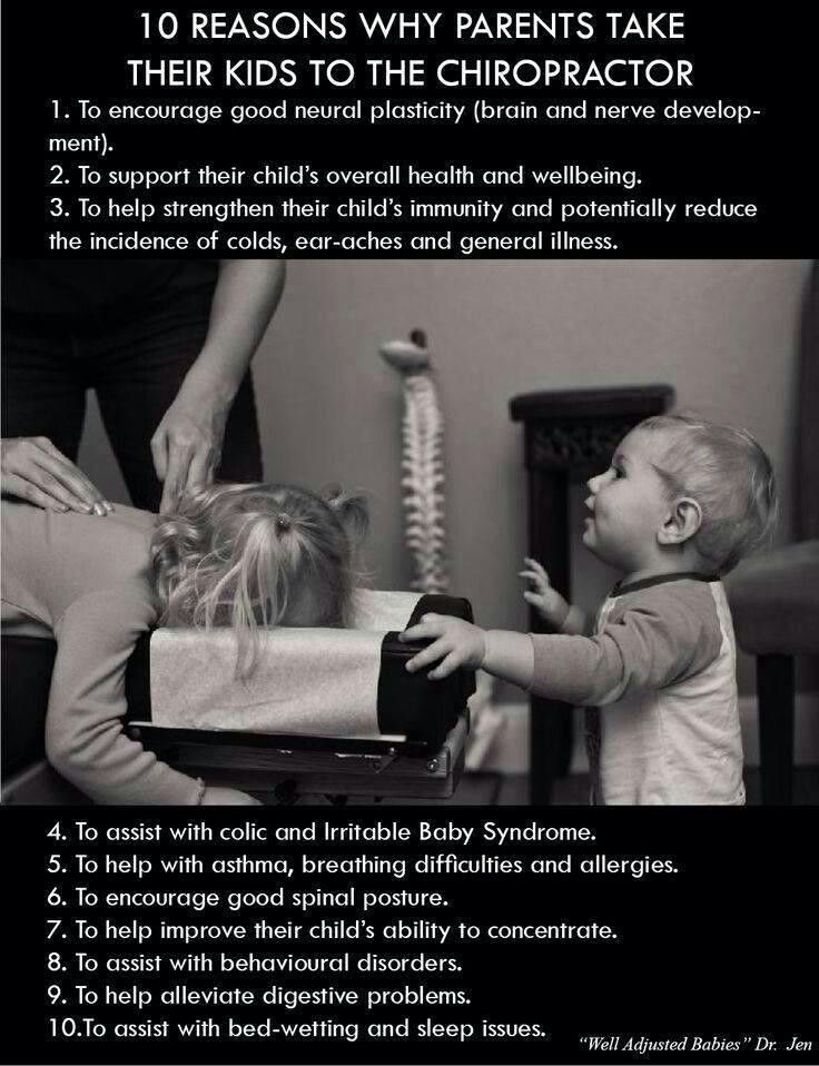 Children with images chiropractic therapy family