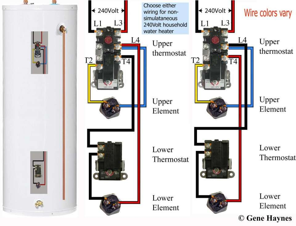 how to test water heater elements with power on