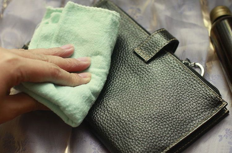 how to clean leather purse scratch