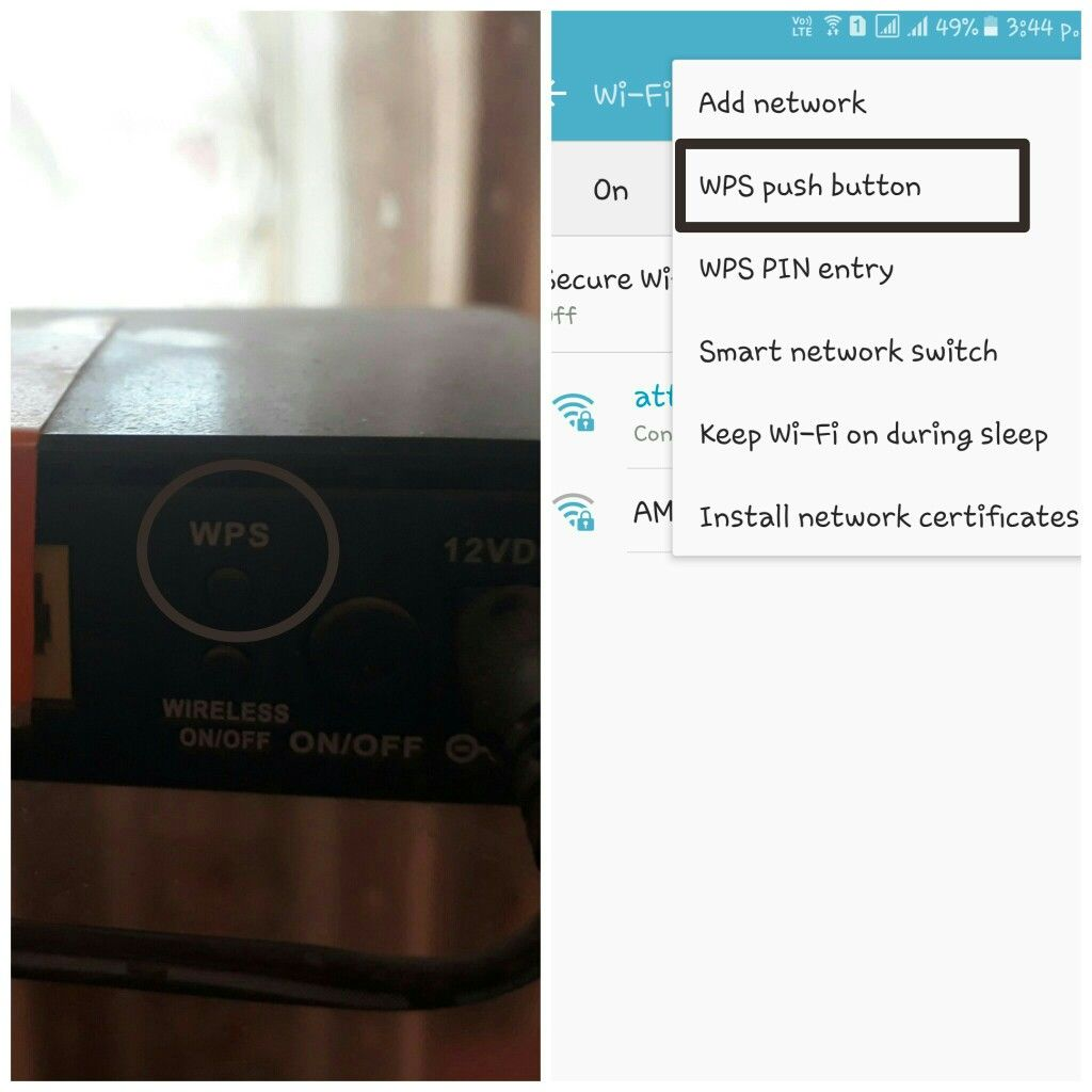 how to connect wifi without password and wps button