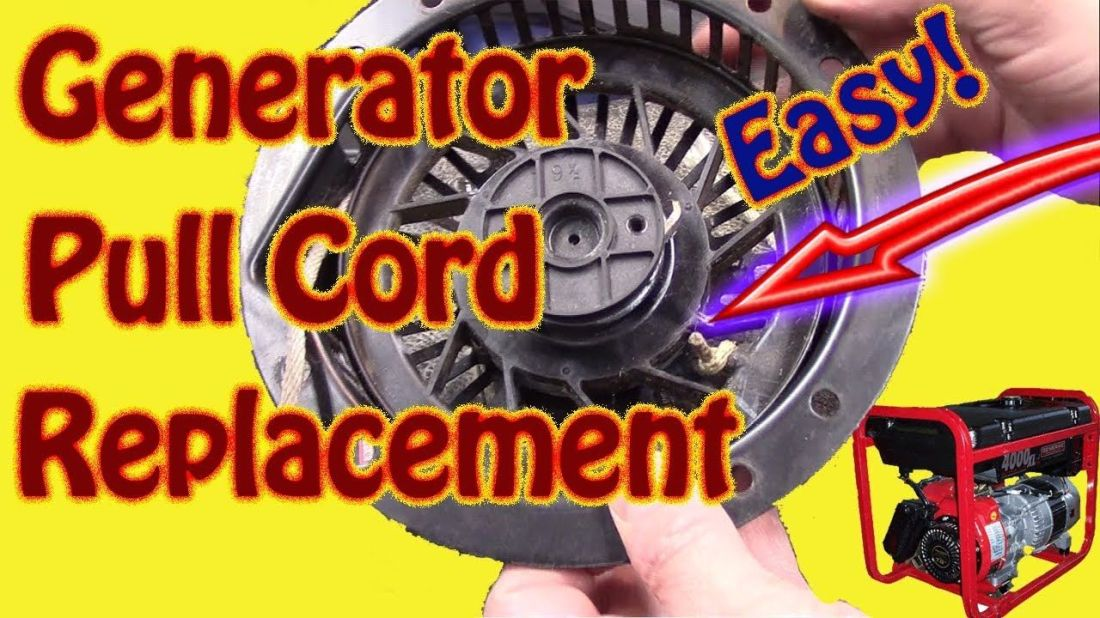 Generator pull cord replacement how to replace small