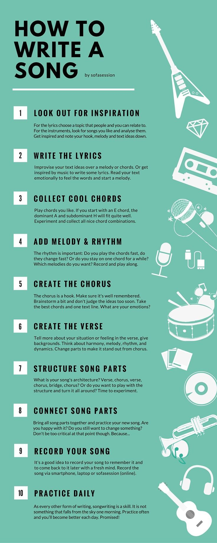 How to write a song in 10 steps as a beginner the