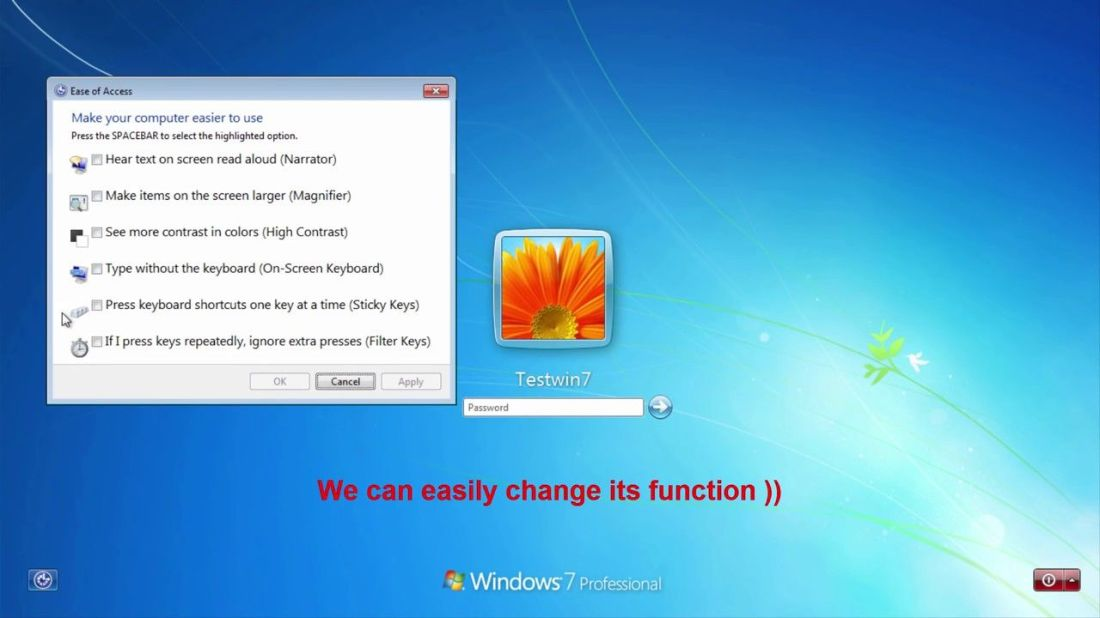 How to unlock windows 7 laptop lock without password