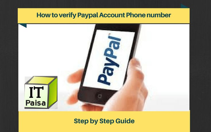 How to verify paypal account phone number phone numbers