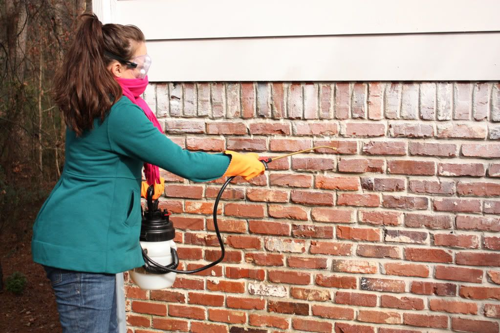 How to remove paint from exterior brick how to clean