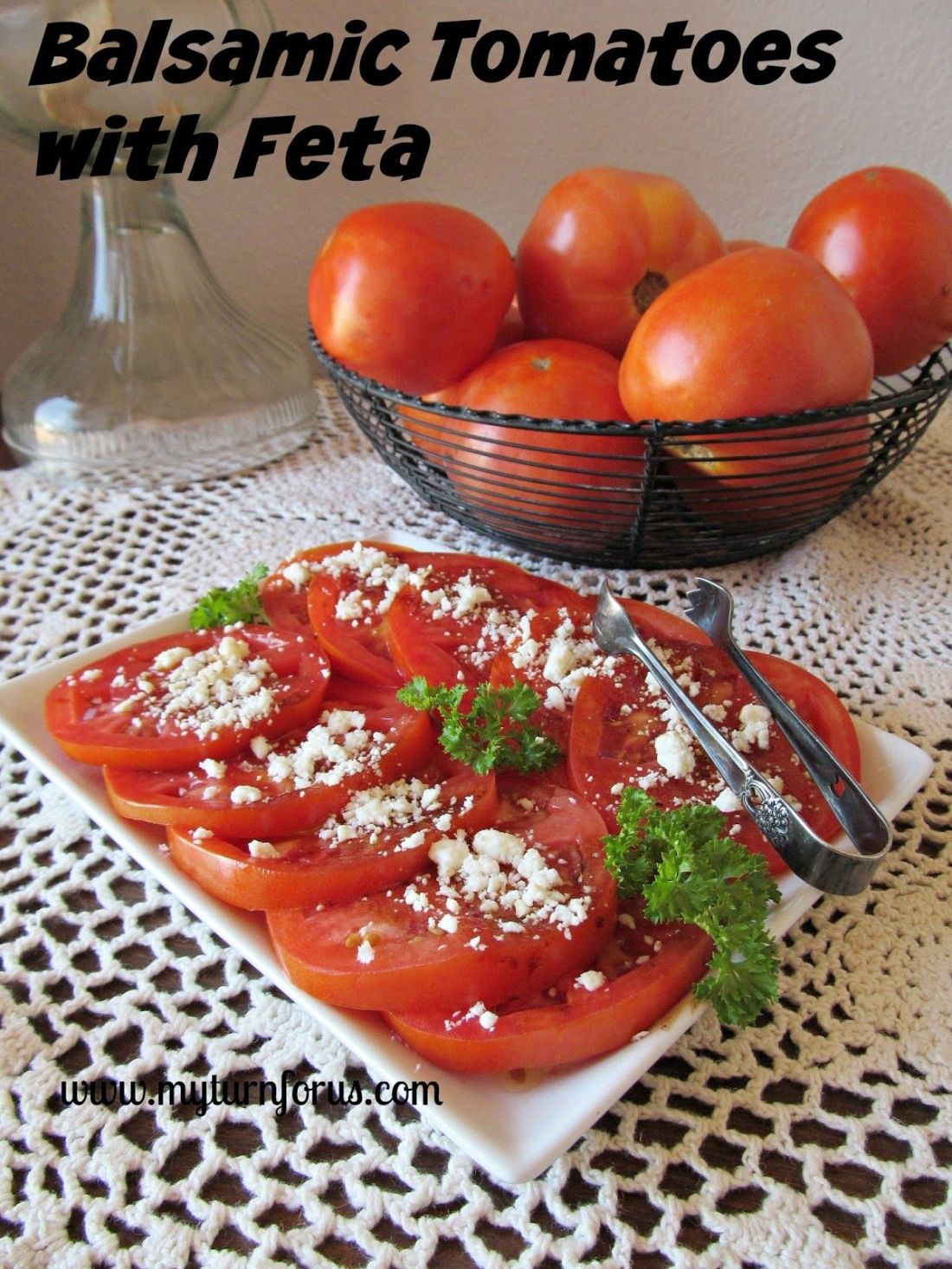 Balsamic tomatoes with feta cheese recipe with images