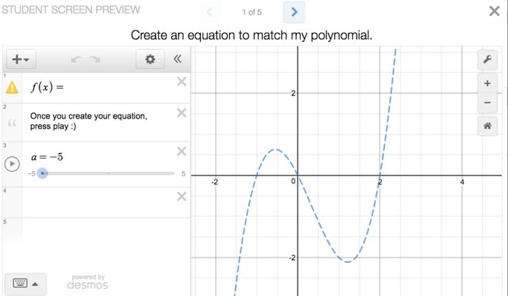 how to graph polynomial functions on desmos