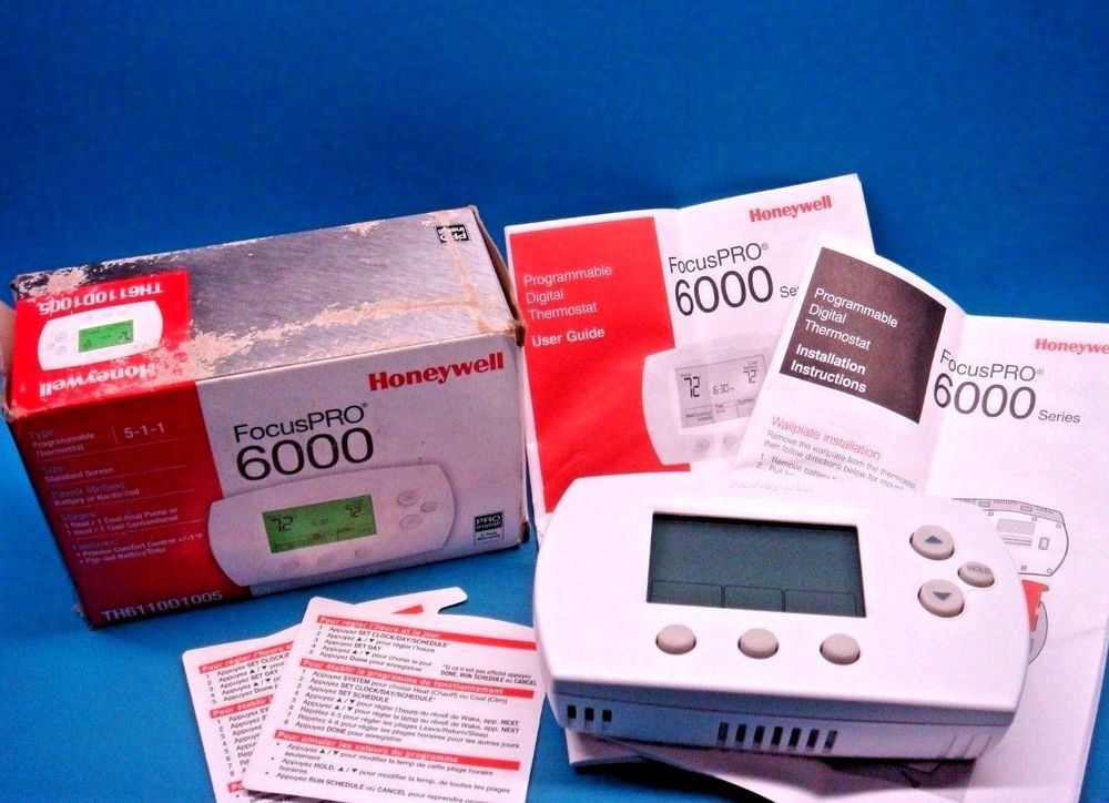 how to program honeywell thermostat th6110d1005