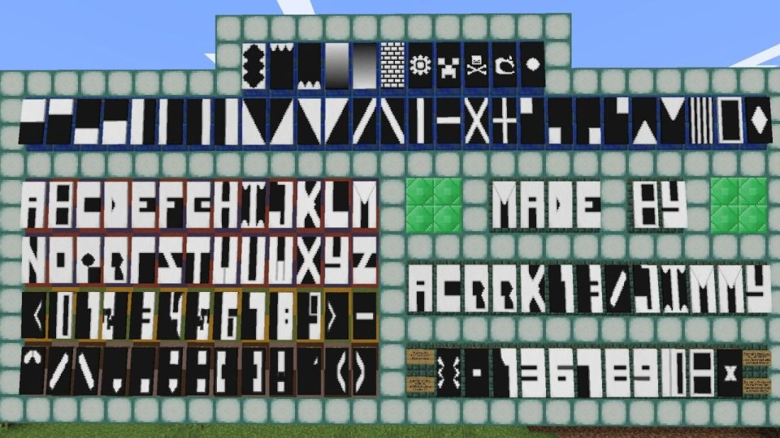 how to make letters on banners in minecraft bedrock