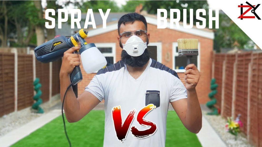 How to paint fence panels spray vs brush wagner
