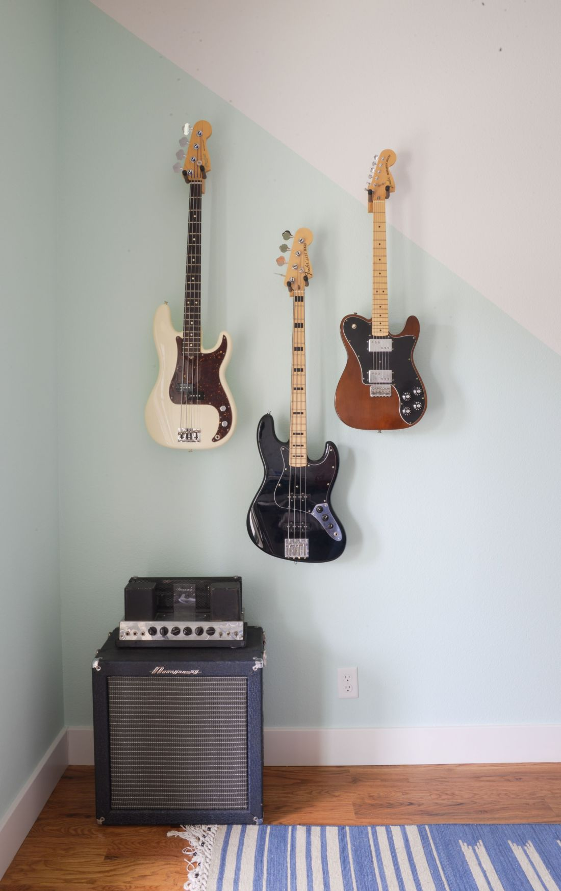 how to hang guitar on wall without stud