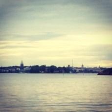 Helsinki skyline from the sea