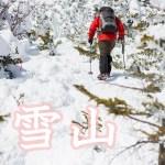 雪山シーズンということで雪山の山行をまとめてみた。