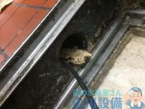 兵庫県芦屋市  厨房排水つまり修理