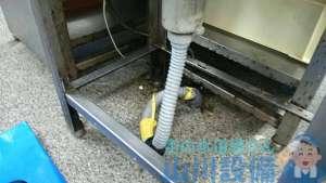 兵庫県伊丹市  シンク排水管つまり高圧洗浄機修理