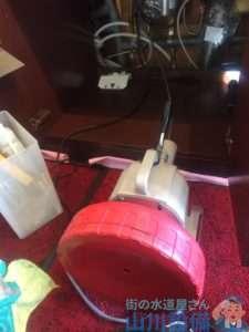 大阪府八尾市高美町  排水水漏れ修理  排水つまり修理  ドレンクリーナー  高圧洗浄機