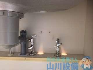 大阪府茨木市春日  キッチン蛇口水漏れ修理  蛇口交換