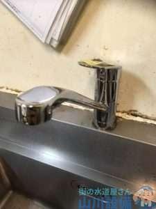 大阪府豊中市向丘  厨房混合水栓故障修理  レバーが折れた  混合水栓交換