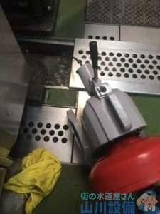 大阪府大阪市中央区難波  厨房シンク排水管つまり修理  ドレンクリーナー