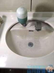 大阪府大阪市平野区喜連  手洗い排水つまり修理  高圧洗浄機