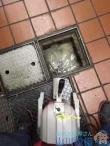 大阪府大阪市中央区南船場  厨房シンク排水管つまり修理  ドレンクリーナー