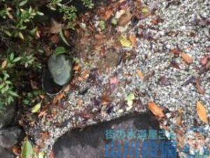 奈良県生駒市有里町 水道管破裂水漏れ修理