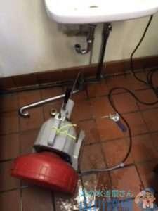 兵庫県尼崎市東園田町  排水パイプ破損修理  排水つまり修理  ドレンクリーナー