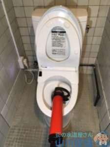 大阪府豊中市桜の町  トイレつまり修理  排水管つまり修理  高圧洗浄機