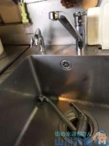 大阪府寝屋川市讃良西町  厨房混合水栓故障修理  混合水栓交換
