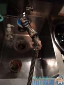 大阪府大阪市北区曽根崎  厨房排水つまり修理  ドレンクリーナー