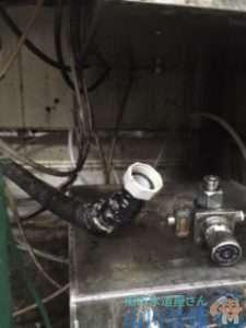 兵庫県尼崎市神田北通り  アイスビン排水つまり修理  ドレンクリーナー