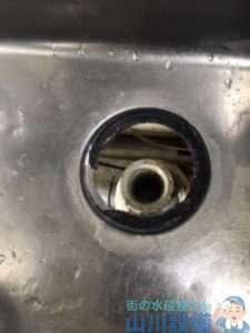 大阪府大阪市東成区大今里南  厨房シンク下水漏れ修理  排水トラップ水漏れ修理